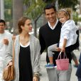 Jessica Alba,  son époux Cash Warren et leur fille Honor