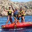 Christian Audigier, son fils et ses amis en vacances à Ibiza le 25 août 2011
