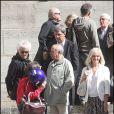 Jean-Luc Moreau, Patrick Chêne et Elisa Servier lors des obsèques de Patrick Guillemin, le 30 août 2011.