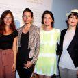 Mélanie Bernier, Louise Monot, Irène Jacob et Keren Ann lors du vernissage de l'exposition L'art, l'amour, la mode. Le 1er septembre  2011