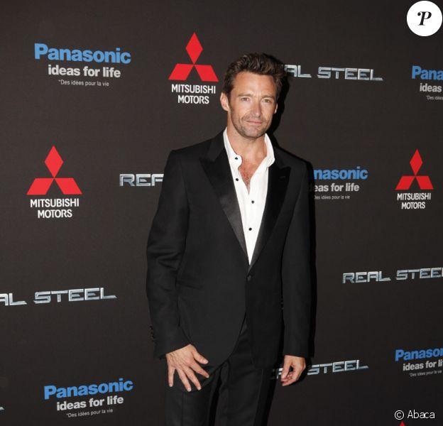 Hugh Jackman lors de l'avant-première de son film Real Steel au Grand Rex à Paris le 6 septembre 2011