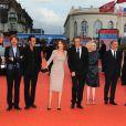 Tout le jury du festival lors de la cérémonie de clôture du festival du film américain de Deauville, le 10 septembre 2011