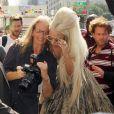 Lady Gaga et la photographe Annie Leibovitz, à New York pour le magazine  Vanity Fair , le 12 septembre 2011.