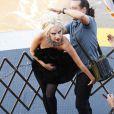Lady Gaga immortalisée par Annie Leibovitz dans les rues de New York pour le magazine  Vanity Fair , le 12 septembre 2011.