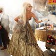 """""""Lady Gaga immortalisée par Annie Leibovitz dans les rues de New York pour le magazine  Vanity Fair , le 12 septembre 2011."""""""