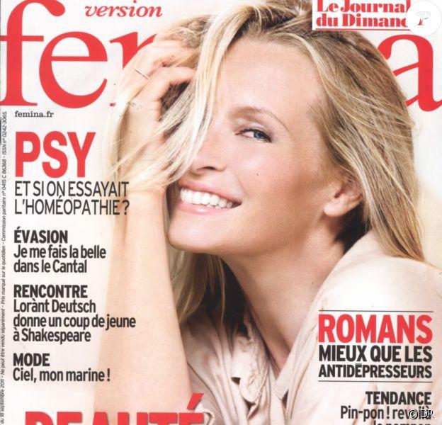 Estelle Lefébure en Une du magazine Version Fémina (semaine du 19 au 25 septembre 2011)