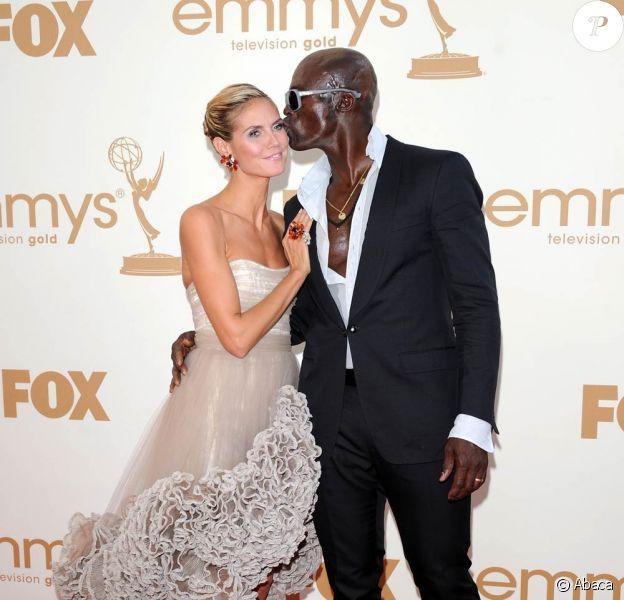 Heidi Klum et Seal lors de la 63e édition des Emmy Awards. 18 septembre 2011