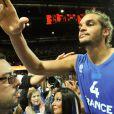 Joakim Noah s'est incliné avec l'équipe de France en finale des championnats d'Europe de basket face aux Espagnols le dimanche 18 septembre 2011