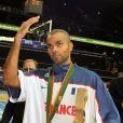 Tony Parker s'est incliné avec l'équipe de France en finale des championnats d'Europe de basket face aux Espagnols le dimanche 18 septembre 2011