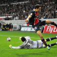 Les joueurs lors du match PSG - Nice au Parc des Princes le 21 septembre 2011