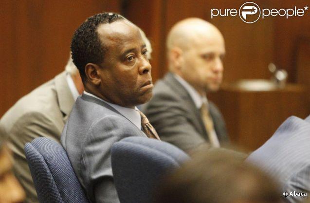 Troisième jour du procès du docteur Conrad Murray, accusé d'homicide involontaire sur Michael Jackson, à Los Angeles le 29 septembre 2011 - ici Conrad Murray