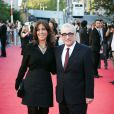 Martin Scorsese et Olivia Harrison à l'avant-première de  Living in the Material World : George Harrison , à Londres, le 2 octobre 2011.
