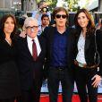 Nancy Shevell, Paul McCartney, Olivia Harrison et Martin Scorsese à l'avant-première de  Living in the Material World : George Harrison , à Londres, le 2 octobre 2011.