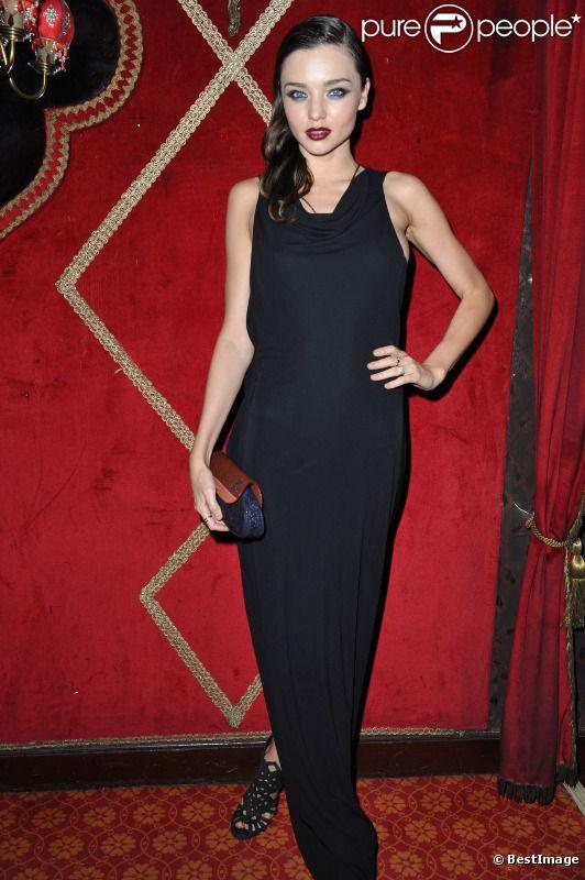 Miranda Kerr lors de la soirée Irreverent organisée par Carine Roitfeld, au Raspoutine à Paris. 4 octobre 2011