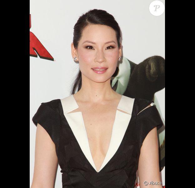 Lucy Liu à New-York le 24 mai 2011 pour Kung Fu Panda 2