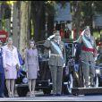Toute la famille royale espagnole réunie pour la fête nationale espagnole, le 12 octobre 2011, à Madrid. Ce fut un moment solennelle pour la famille.