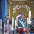 Toute la famille royale espagnole réunie pour la fête nationale espagnole, le 12 octobre 2011, à Madrid.