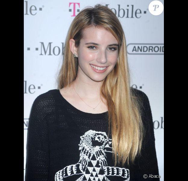 Emma Roberts lors de la soirée T-Mobile Samsung organisée à New York le 13 octobre 2011