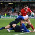 Le match France-Pays de Galles dans le cadre de la Coupe du Monde de Rugby s'est déroulé à Auckland, samedi 15 octobre 2011.