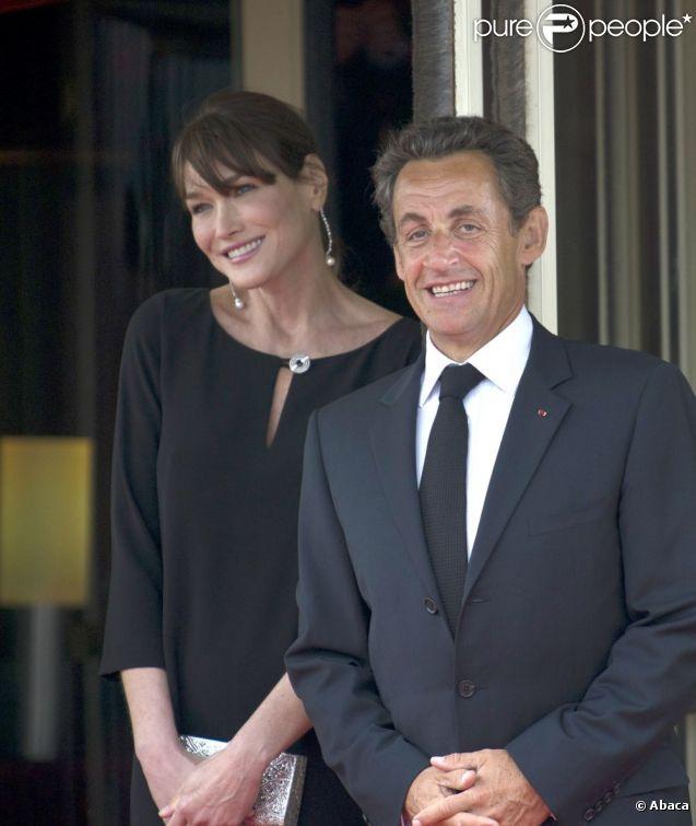 Carla Bruni-Sarkozy et son époux Nicolas en mai 2011.