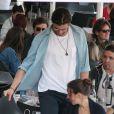 Elsa Pataky et Chris Hemsworth, à Barcelone, le 16 octobre 2011.