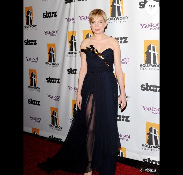 Michelle Williams à Los Angeles le 24 octobre 2011 pour le gala Starz.