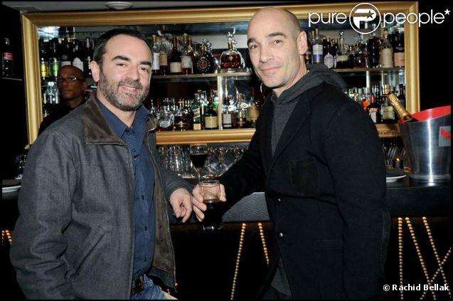 Bruno Solo et Jean-Marc Barr en avril 2009 à Paris