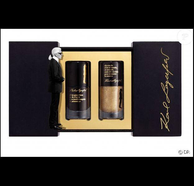 Karl Lagerfeld lance une collection capsule de produits de beauté en collaboration avec Sephora.