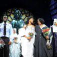 Whoopi Goldberg est invitée à rejoindre le casting de la comédie musicale Sister Act sur scène, à Milan, le 27 octobre 2011.
