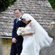 Lily Allen et Sam Cooper le jour de leur mariage, à Gloucestershire, le 11 juin 2011.