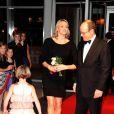 Le prince Albert et la princesse Charlene à New York le 2 novembre 2011 à Toronto pour l'inauguration de l'exposition  Grace Kelly: From movie star to princess .