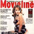 Nue sous un manteau de fourrure, la superbe Elizabeth Hurley fait la couverture de MovieLine. Septembre 1998.