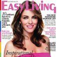 Elizabeth Hurley, éblouissante en couv' de Easy Living, se confie au magazine britannique. Octobre 2011.