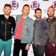 Coldplay arrive aux MTV Europe Music Awards 2011 à Belfast, le 6 novembre 2011