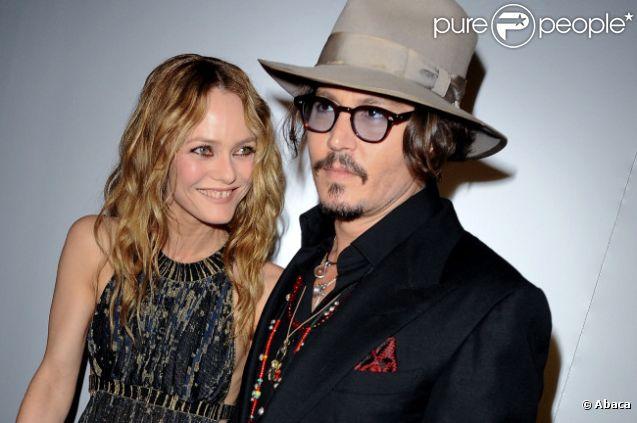 Vanessa Paradis et Johnny Depp le 18 mai 2010 à Cannes.