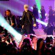 Justin Bieber donne un showcase au centre commercial Westfield, à Londres, le lundi 7 novembre 2011.