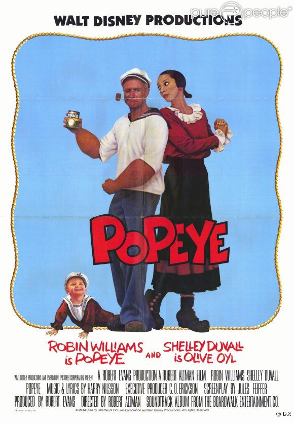 Popeye (1980) avec Robin Williams.