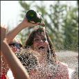 La mythique plage de la Voile Rouge recevait Cindy Crawford et son mari Rande Gerber en 2005