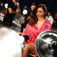 Miranda Kerr en backstage du défilé Victoria's Secret. New York, le 9 novembre 2011.