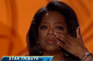 Oprah Winfrey, oscarisée et émue aux larmes :