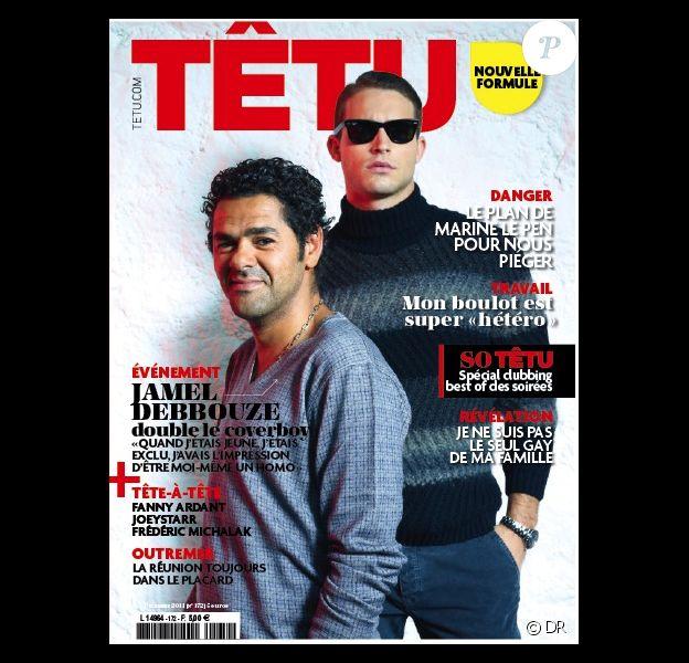 Jamel Debbouze en couverture de Tétu en kiosques dès mercredi 16 novembre 2011 - nouvelle édition