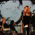Concert exceptionnel de Patti Smith et David Lynch organisé à la Fondation Cartier, à Paris, le 28 octobre 2011.