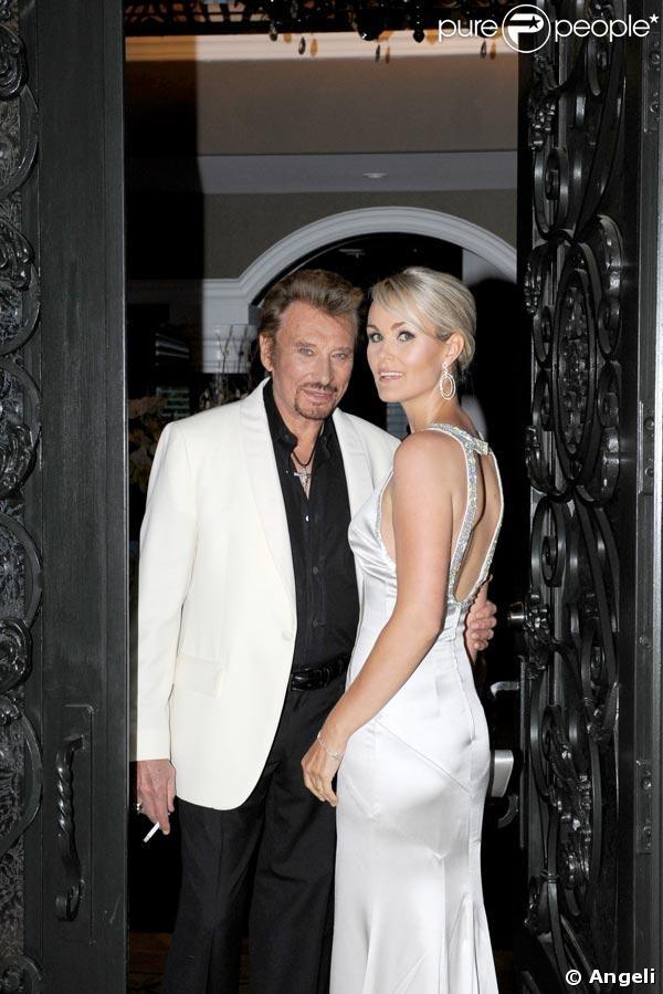 Johnny et Laeticia à Los Angeles devant leur villa