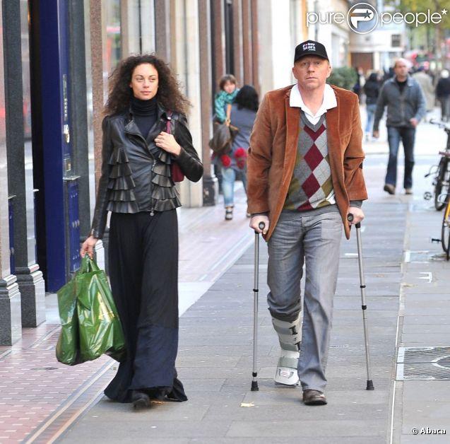 Boris Becker et sa femme Lilly à Londres font du shopping le 19 octobre 2011