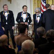 Meryl Streep embrassée par Barack Obama devant ses enfants