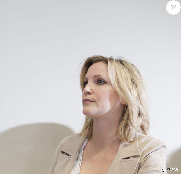 Nadja Auermann au tribunal de Berlin pour une fraude fiscale le 19 mai 2011
