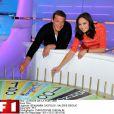 Benjamin Castaldi et Valérie Bègue pour La Roue de la Fortune