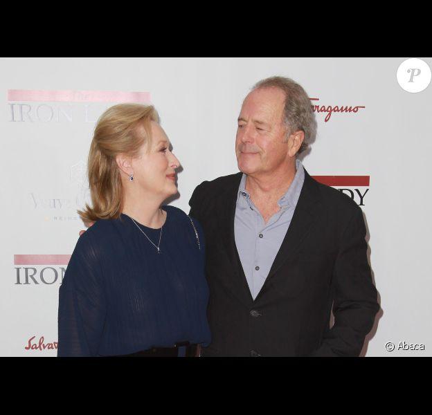 Meryl Streep et Don Gummer lors de l'avant-première du film La Dame de fer le 13 décembre 2011 à New York