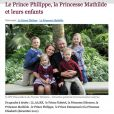 Photo officielle de Philippe et Mathilde de Belgique avec leurs enfants, décembre 2011