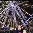 Nikos Aliagas et sa soeur Maria pour l'inauguration de Jours de fêtes au Grand Palais, à Paris, le 15 décembre 2011.